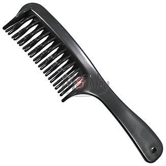Salon Prof. Гребень 1229 пластик черный скрещено-зубый, фото 2