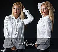 Рубашка с нагрудными карманами белая