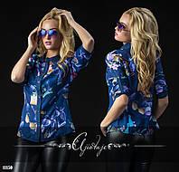 Рубашка со стильным принтом духи