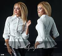 Рубашка с баской белая