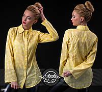 Рубашечка с сердечками желтая