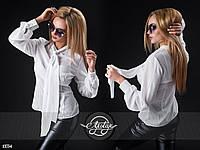 Рубашка с завязывающимся галстуком/бантом белая