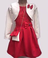 Платье для девочки с болеро 28068