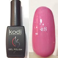 Гель лак № 028 Kodi Professional(классический розовый, эмаль) 8 мл