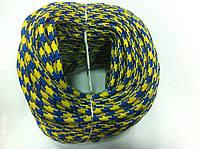 """Верёвка """"Крокус"""" (шнур) диаметром 6мм репшнур (желто-синяя)"""