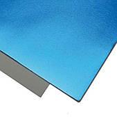 Фоамиран 2 мм Металик 20х30 см Голубой 1 шт