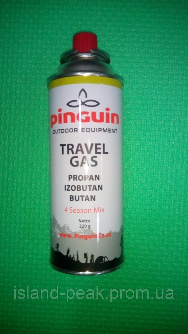 Газовый баллон Pinguin цанговый 220 грамм.