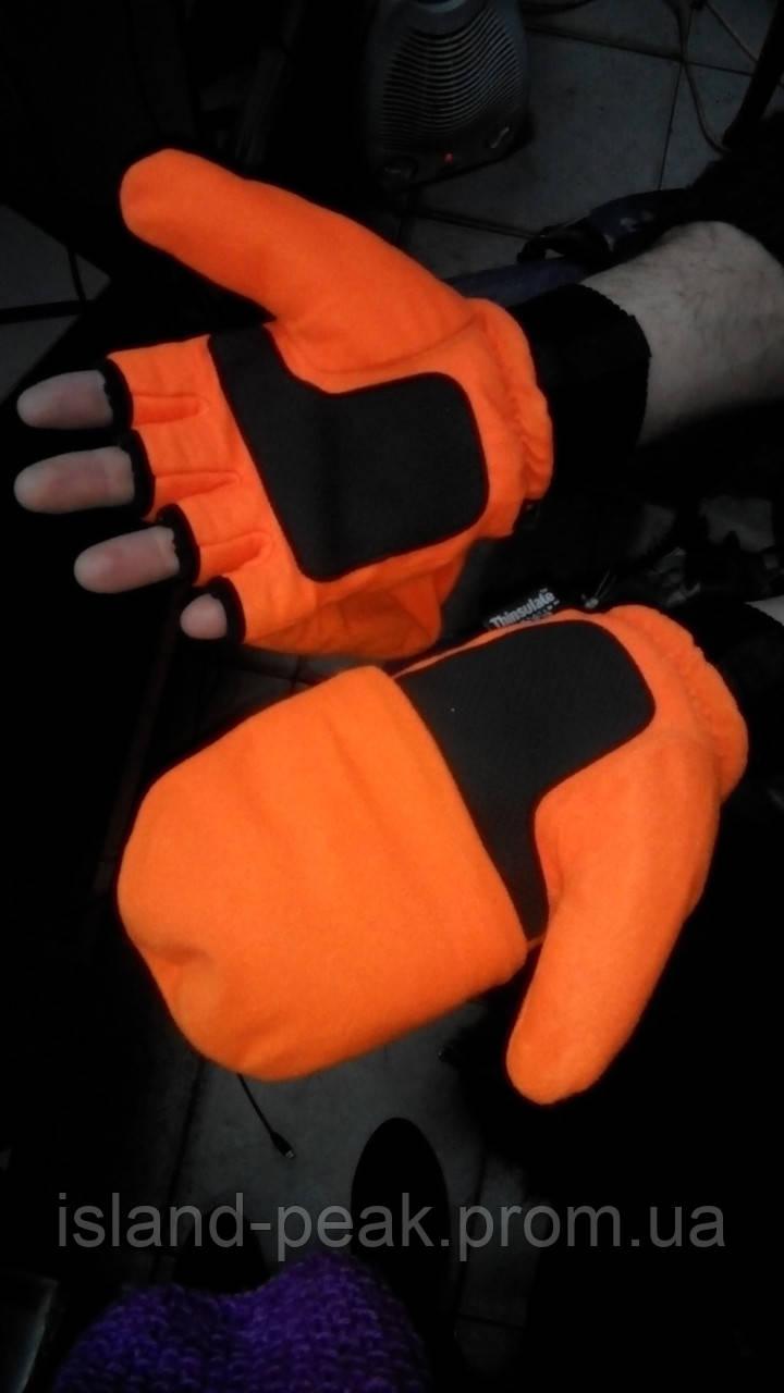 Флисовые перчатки - варежки Thinsulate.