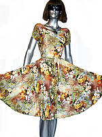 Приталенной платье с пышной юбкой