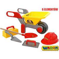 Набор каменщика  Тачка + набор каменщика 5 элементов Wader 50229