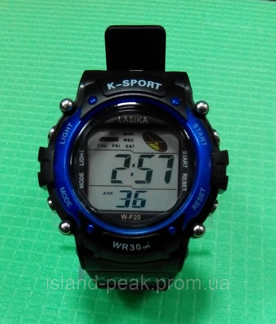 Часы Lasika W-F20 чёрные cсиним