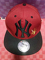 Бейсболка New York(красная с чёрным)