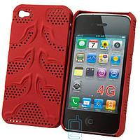 Чехол-накладка для iPhone 4-4S, сетка красный  - оптом по 5 грн