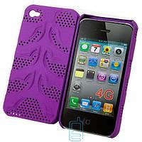 Чехол-накладка для iPhone 4-4S, сетка фиолетовый  - оптом по 5 грн