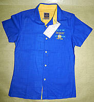 Модная рубашка с коротким рукавом для мальчика 5-8 лет