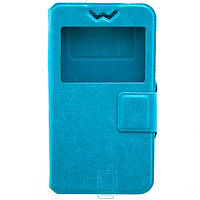 Чехол-книжка универсальный 5.5'' силикон-магнит голубой