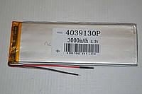 Аккумуляторная батарея Polymer battery 3.7V 3000mAh (4.0*39*130mm)