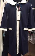 Трикотажное школьное платье  2806-24