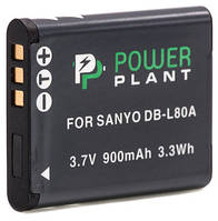 Аккумулятор PowerPlant Sanyo DB-L80, D-Li88 900mAh