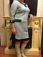 """Женское трикотажное платье больших размеров """"Фантазия"""""""