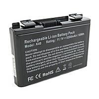 Аккумулятор к ноутбуку Asus K40 (A32-F82) 5200 mAh Extradigital