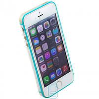 Чехол бампер для iPhone 5S Vser голубой