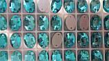 11х16мм. ОВАЛЬНЫЕ пришивные AQUAMARINE стекло, фото 2