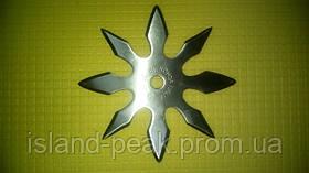 Сюрикен метательный звёздочка 8 конечный в чехле