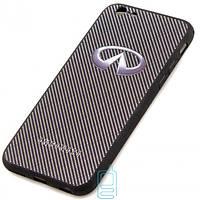 Чехол силиконовый INFINITI CARBON для iPhone 6S черный