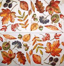 Декупажные салфетки Листья и плоды 2968