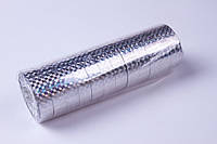 Скотч декоративный лазерный, серебро (12 mm×20 m,12 шт/упаковка)