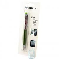 Стилус емкостный Touch Pen с авторучкой зеленый