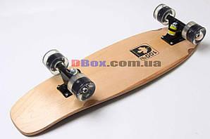 Скейт Пенни борд Penny board Круизер ( канадский клен ) светящиеся колеса Black