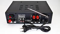 Усилитель UKC AV-323BT + КАРАОКЕ 2 микрофона. Отличное качество. Стерео усилитель. Удобный. Код: КДН1953