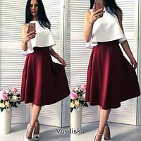 4526358de50 Комплект оригинальный топ юбка расклешонная