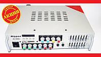 Доступный усилитель Nippon AV-998U + КАРАОКЕ 2 микрофона. Высокое качество. Удобный усилитель. Код: КДН1955
