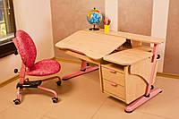 """Детский стол """"Эргономик"""" с тумбой из ДСП, фото 1"""