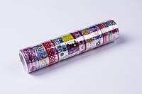 Скотч декоративный лазерный с рисунком (17 mm×3 m,10 шт/упаковка) №1503