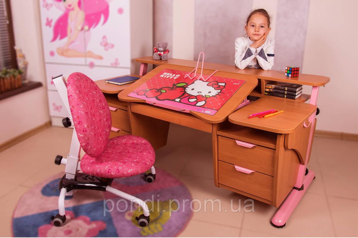 Детский стол Эргономик с двумя тумбами из ДСП