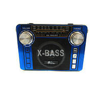 Радиоприемник колонка MP3 USB HS-1062URT Blue, фото 1