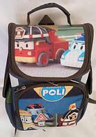 Каркасный рюкзак для мальчиков младших классов, Робокар Полли