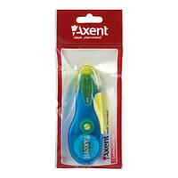 Корректор ленточный  5мм х 5м  Axent 7006 сине-желтый, фото 1