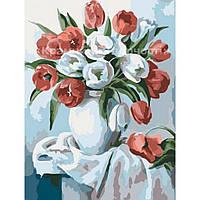 Живопись по номерам Букет тюльпанов, 30х40см. (КНО2046)