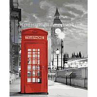Картина по номерам Лондон. Телефонна будка, 40x50см. (КНО2148)