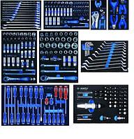 Набор инструментов для тележки 259 пр.EVO в мягких ложементах (без тележки) King Tony 934-018MRVD