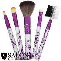 Salon Prof. Набор кистей для макияжа (5шт) 34136 короткие ручки, бело-сирен.