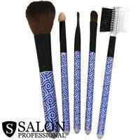 Salon Prof. Набор кистей для макияжа (5шт) 34137 короткие ручки, сине-белые