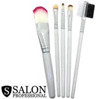 Salon Prof. Набор кистей для макияжа (5шт) 34138 длинные белые ручки