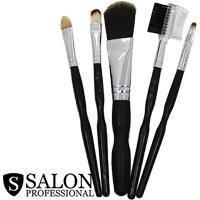 Salon Prof. Набор кистей для макияжа (5шт) 34203 длинные черные ручки