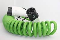 Зарядный кабель Type1-Type2 Спиральный